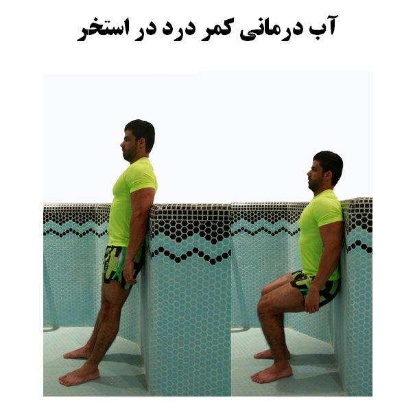 آب درمانی کمر درد در استخر